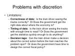 problems with discretion1