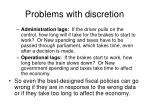 problems with discretion2