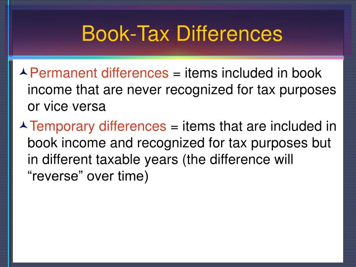 Book-Tax Differences