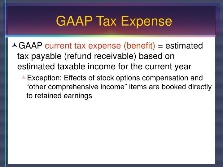GAAP Tax Expense