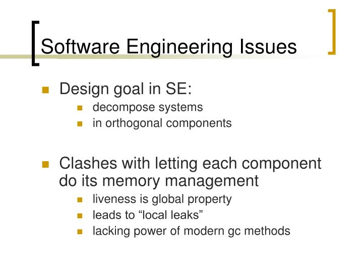 Software Engineering Issues