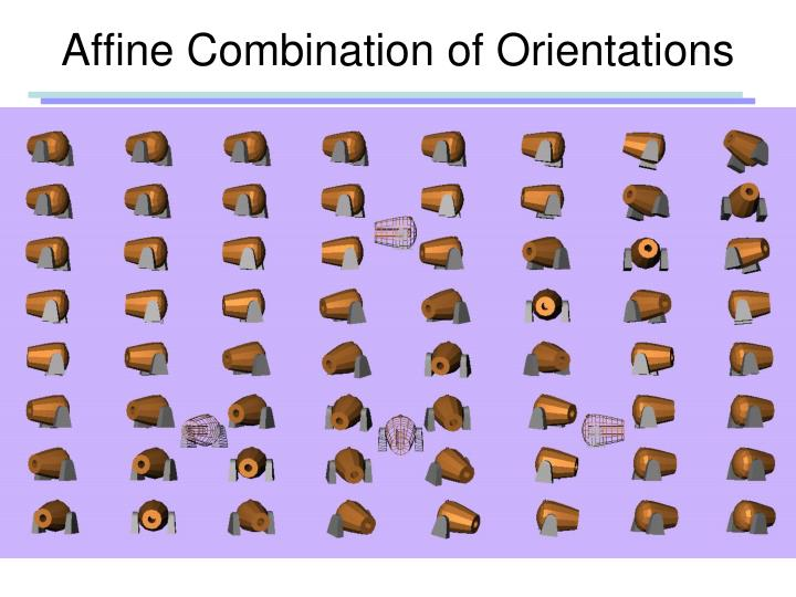 Affine Combination of Orientations