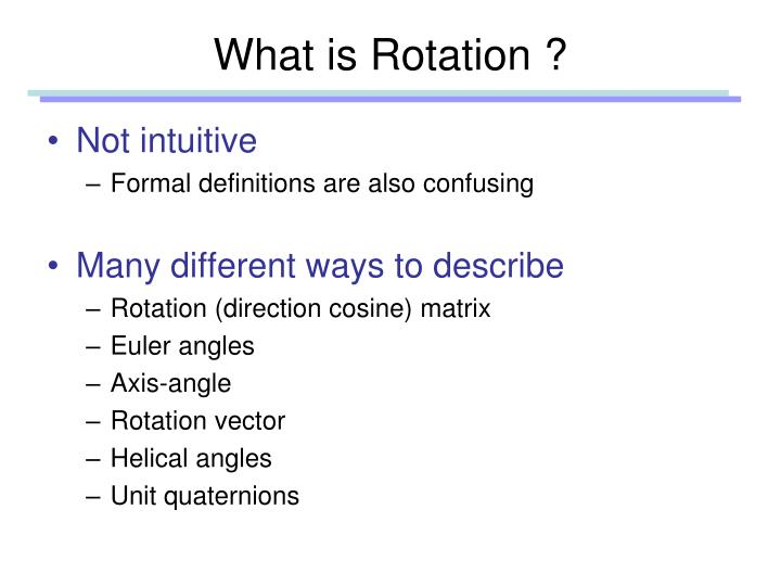 What is Rotation ?