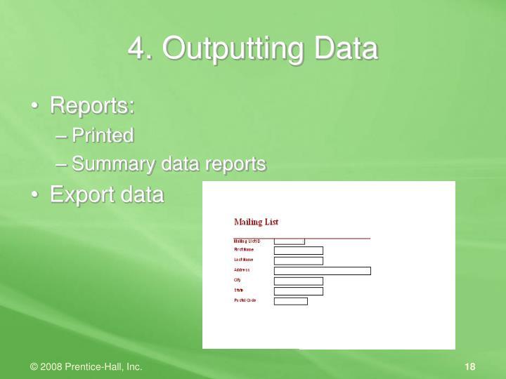 4. Outputting Data