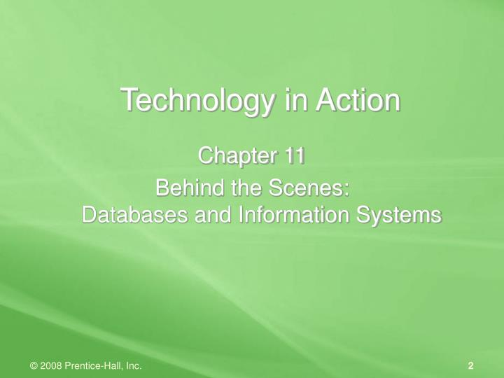Technology in action1