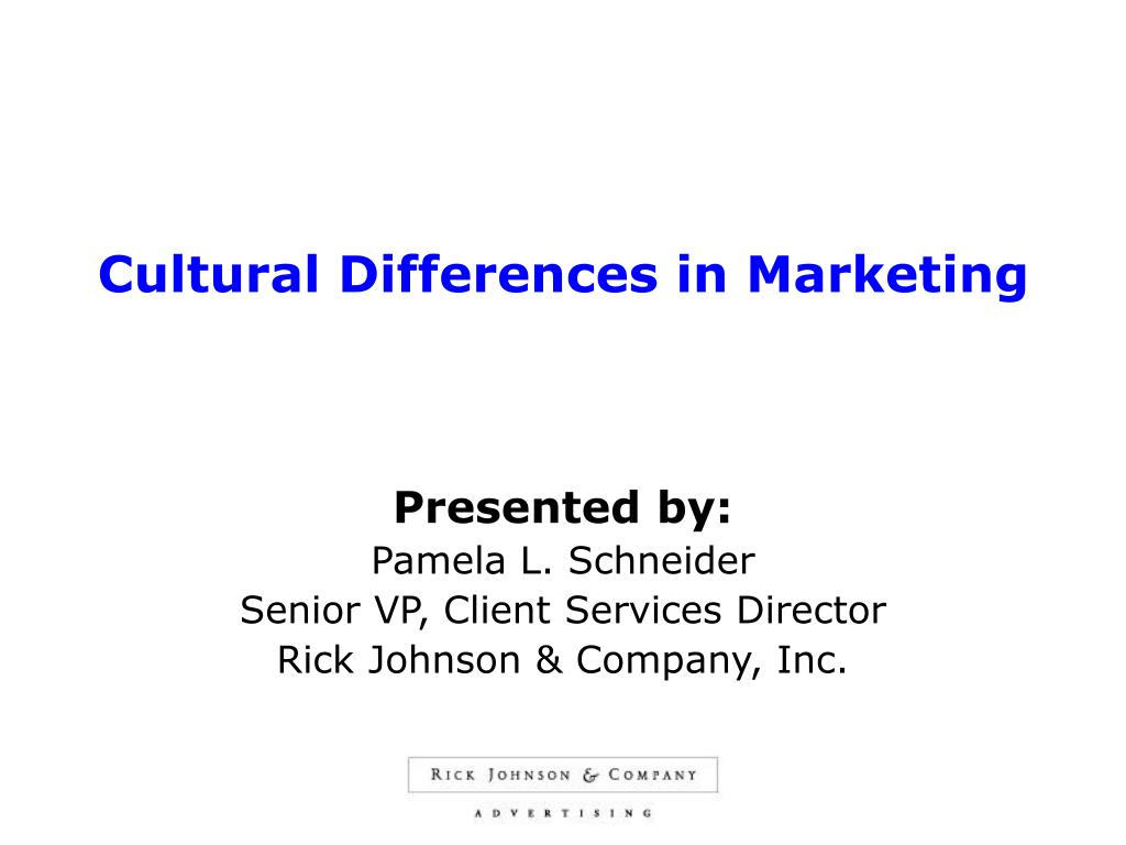 cultural differences in marketing