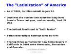 the latinization of america