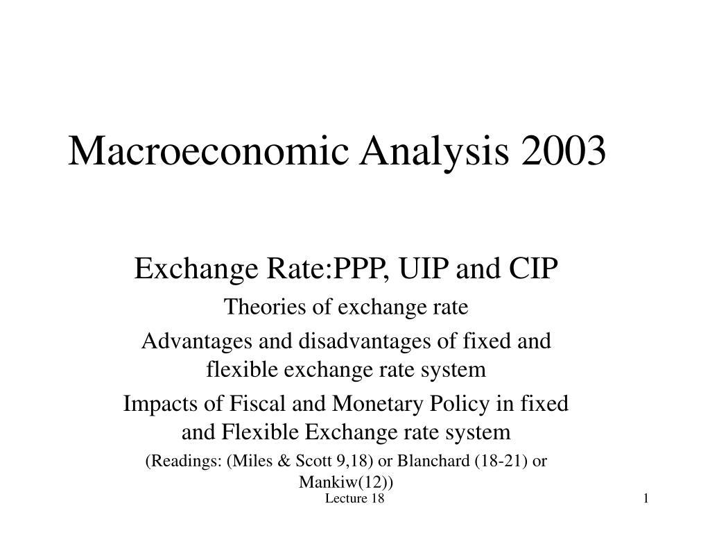 Macroeconomic Analysis 2003