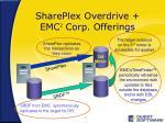 shareplex overdrive emc 2 corp offerings