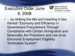 executive order june 9 2008