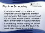 flextime scheduling