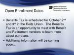 open enrollment dates