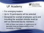uf academy