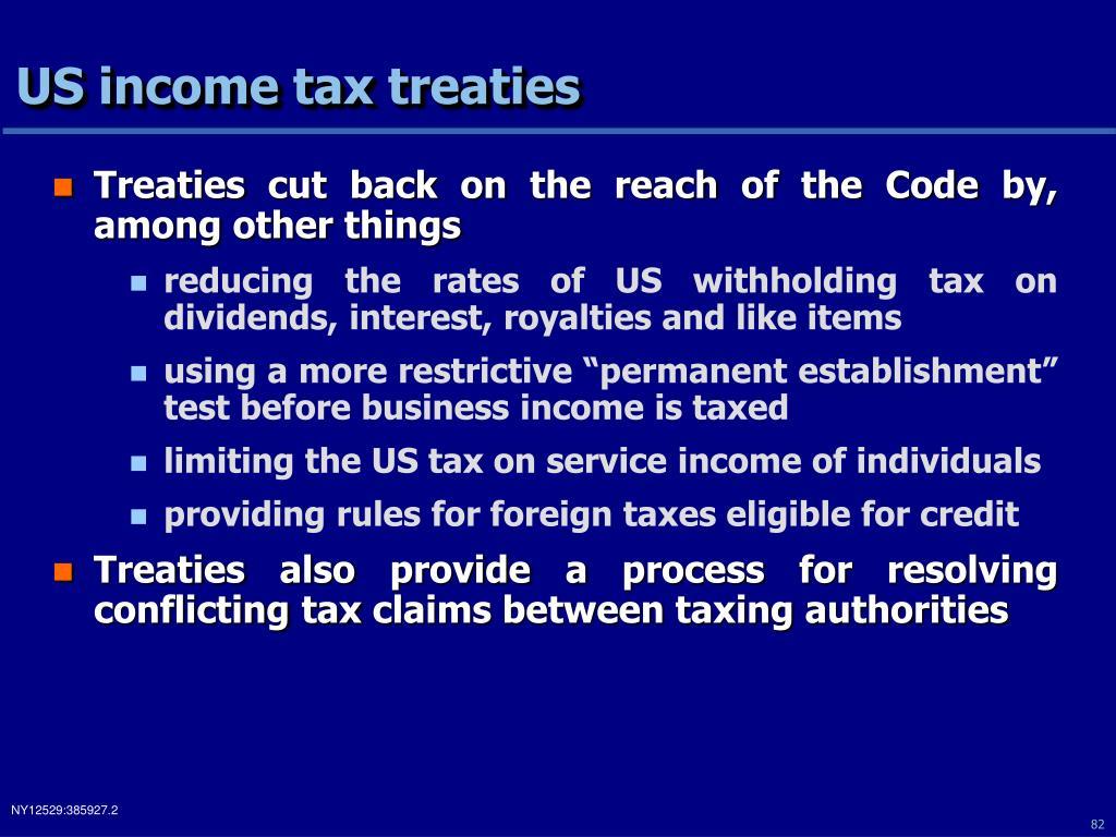 US income tax treaties