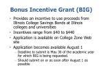 bonus incentive grant big