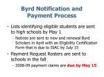 byrd notification and payment process
