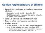 golden apple scholars of illinois