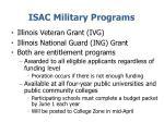 isac military programs