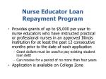 nurse educator loan repayment program