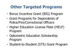 other targeted programs
