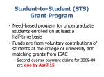 student to student sts grant program