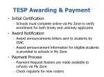 tesp awarding payment