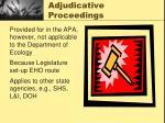adjudicative proceedings