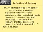 definition of agency