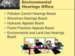 environmental hearings office