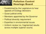 pollution control hearings board