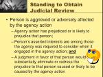 standing to obtain judicial review