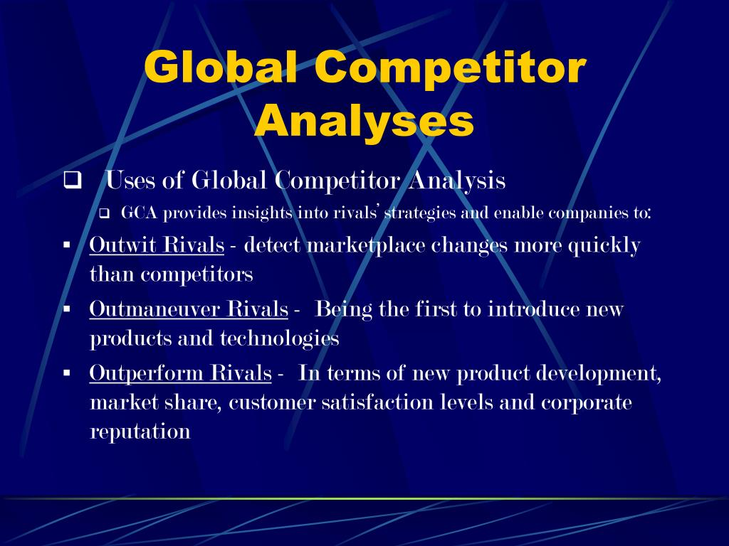 Global Competitor Analyses