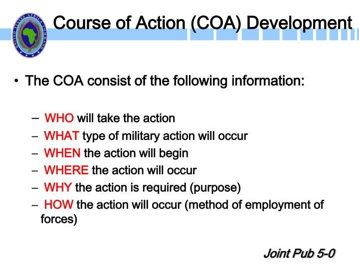 Course of Action (COA) Development