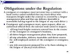 obligations under the regulation