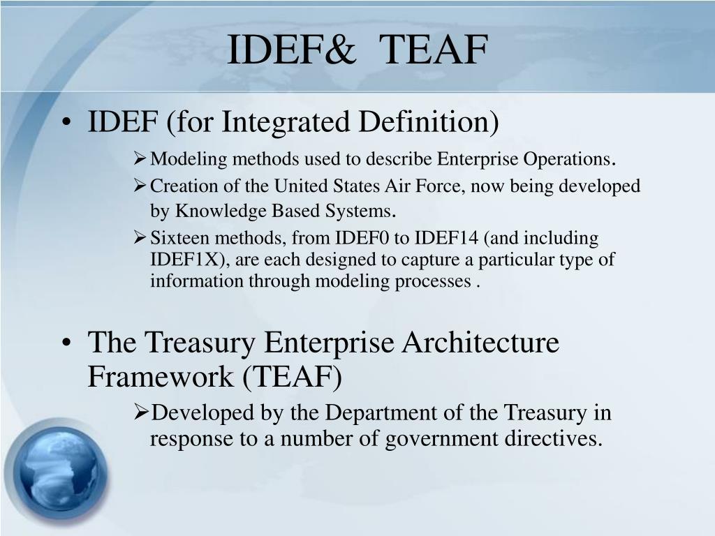 IDEF&  TEAF