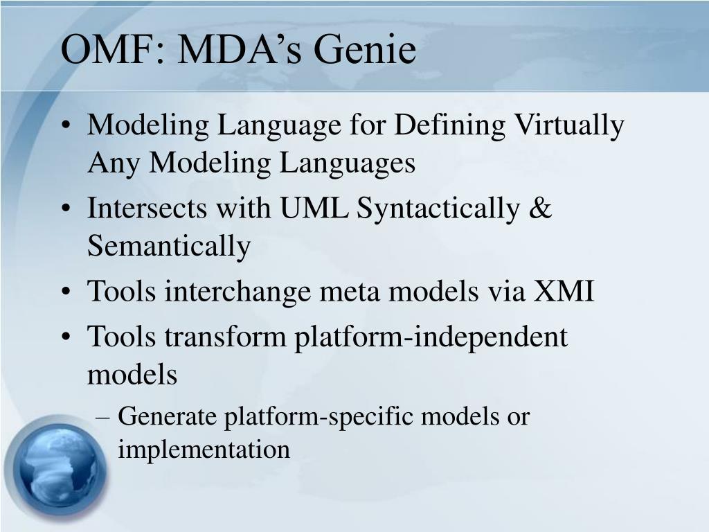 OMF: MDA's Genie