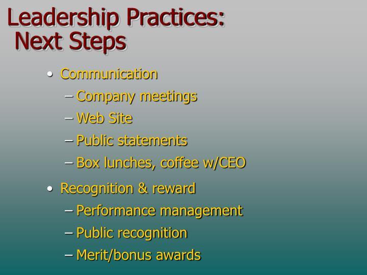 Leadership Practices: