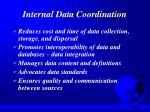 internal data coordination