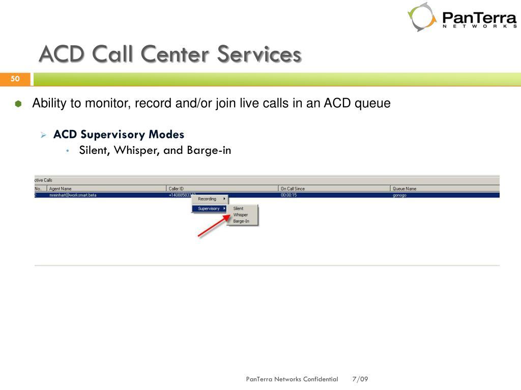 ACD Call Center Services