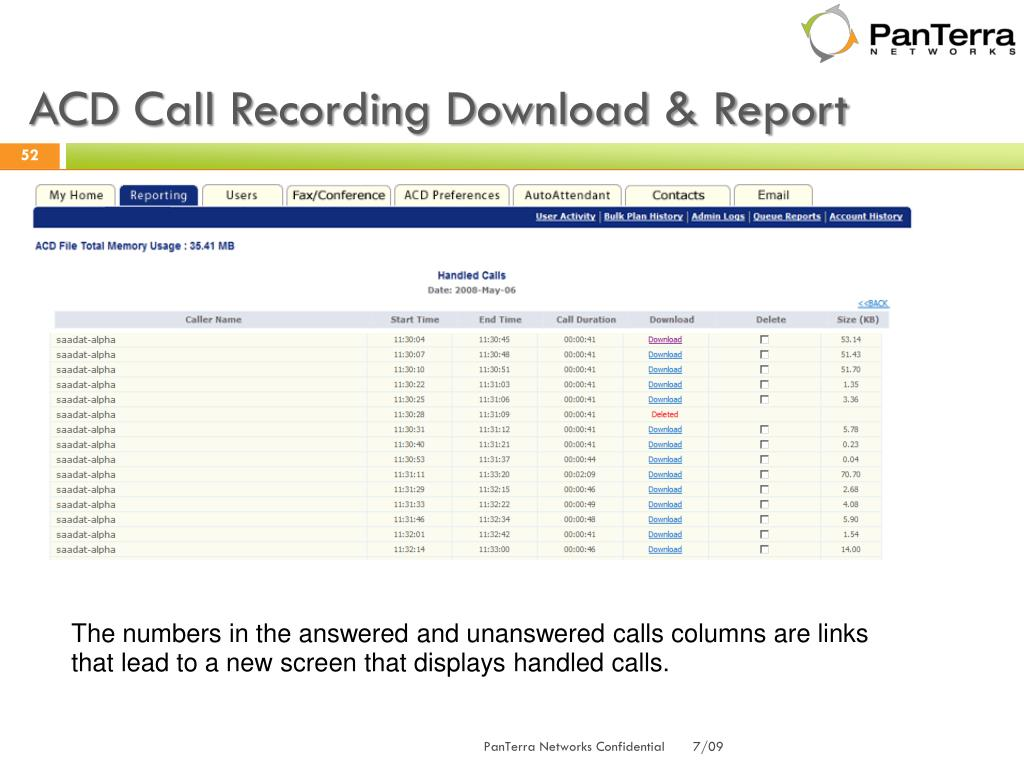 ACD Call Recording Download & Report