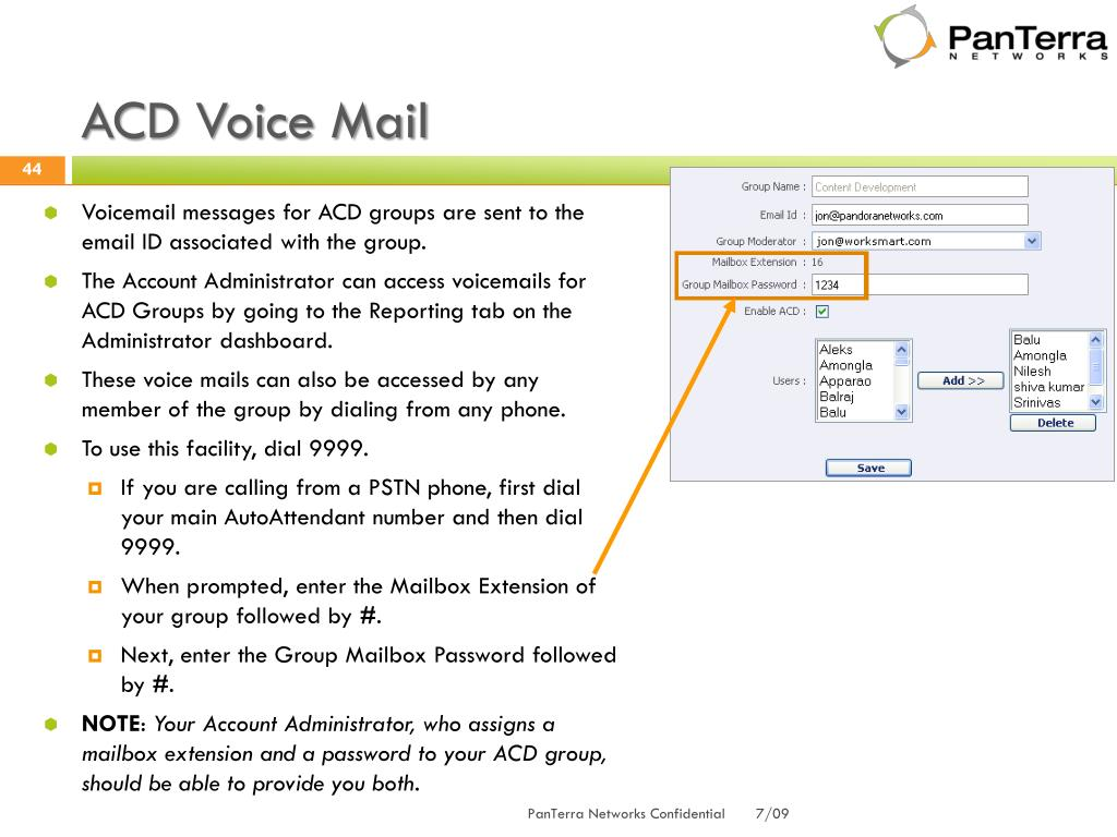ACD Voice Mail