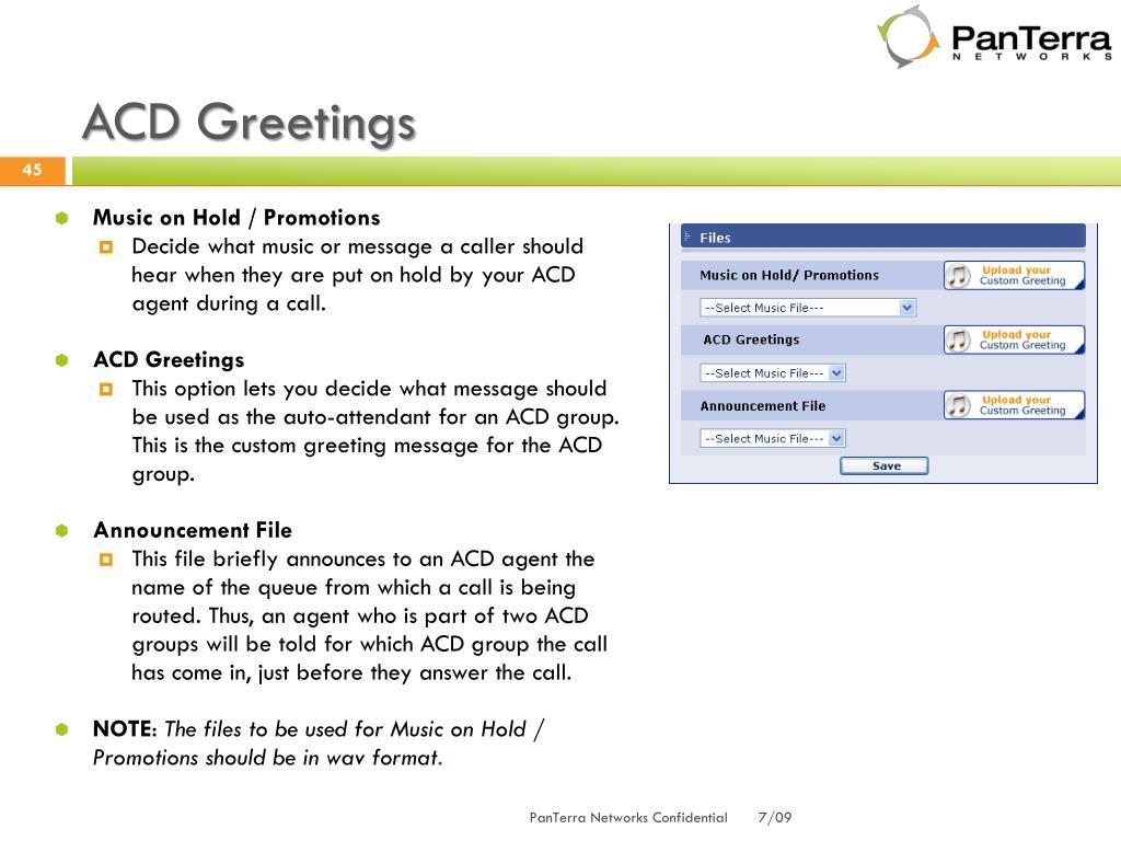 ACD Greetings