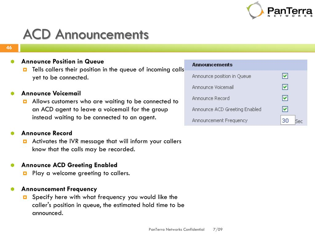 ACD Announcements