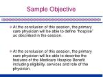 sample objective1