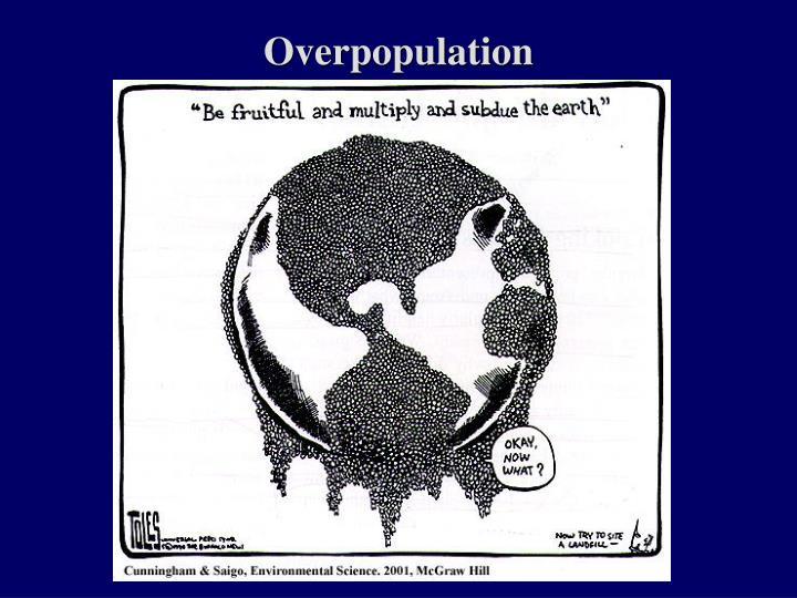 overpopulation n.