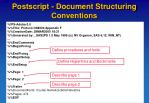 postscript document structuring conventions