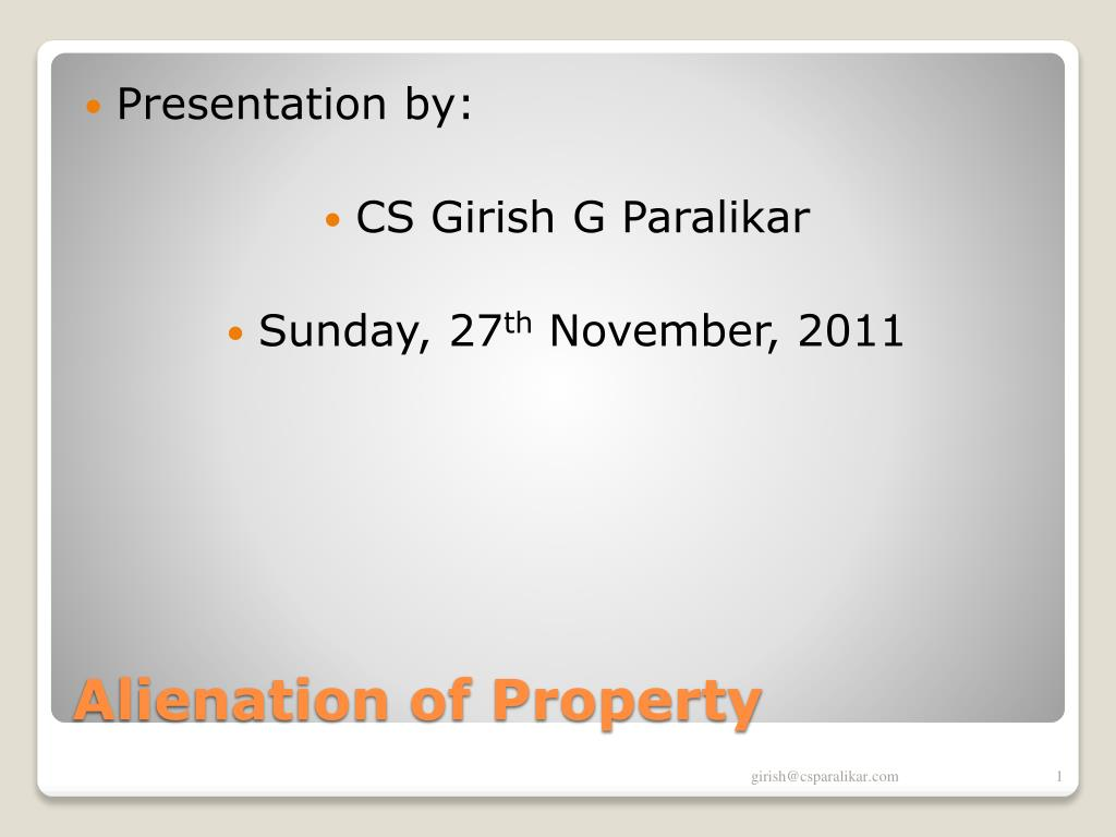 alienation of property l.