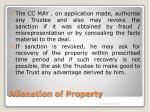 alienation of property9