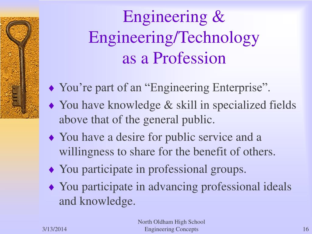 """You're part of an """"Engineering Enterprise""""."""