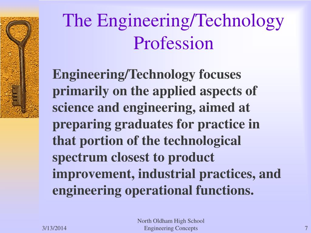 The Engineering/Technology Profession